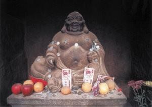 Thomas Haltner -Macau Money Buddha- Postkaart
