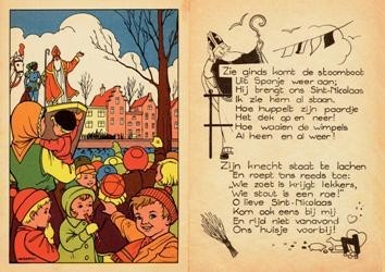 -Sint Nicolaas- Postkaart