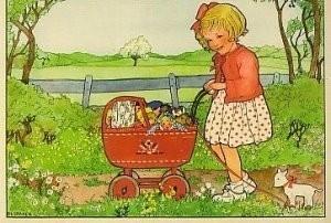 Rie Cramer (1887-1977) -Uit:'Spelletjes'- Postkaart