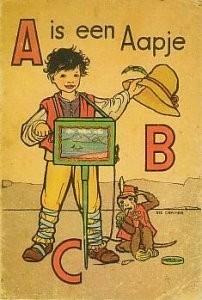 Rie Cramer (1887-1977) -Uit:'A is een Aapje'- Postkaart