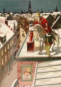 P.J. van Geldorp (1872-1939) -Sinterklaas- Postkaart