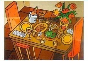 Jacqueline Schafer -De aardse tafel- Postkaart