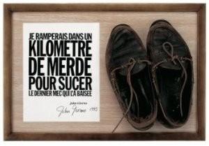 John Giorno (1936) -J.Giorno/Shoes or no shoes- Postkaart