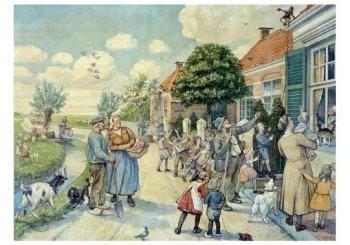 Cornelis Jetses (1873-1955) -Vertelselplaten- Postkaart