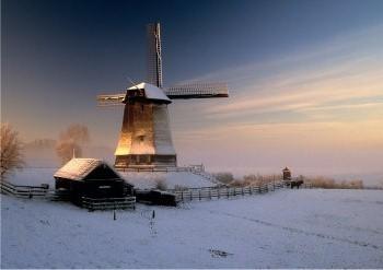 Jaap Hart -Winter in Holland- Postkaart