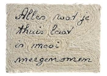 Roel Endendijk -Wandtegel, 2008- Postkaart
