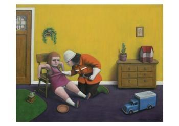 Elmer de Gruijl -De brandweerman- Postkaart