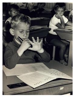 Anoniem, -Leren rekenen, circa 1970- Postkaart