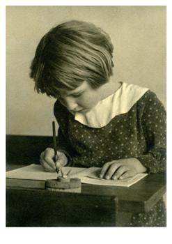 Anoniem, -Schrijven met de kroontjespen, circa 1930- Postkaart