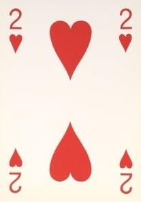Tjalf Sparnaay (1954) -Love Card 1,Harten twee- Postkaart