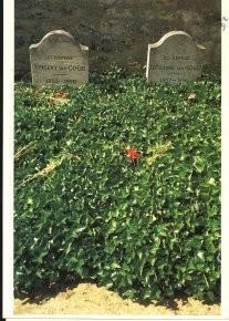 Paul Huf (1924-2002) -Grave-yard, Vincent van Gogh- Postkaart