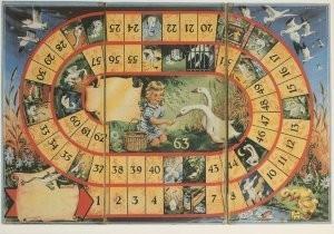 Mirjam Meijlink -Het Oud Hollandse Ganzenbord- Postkaart