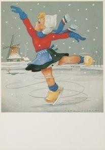 Jan Lavies (1902-2005) -Jan Lavies/Winter- Postkaart
