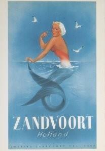 Jan Lavies (1902-2005) -Jan Lavies/Zeemeermin- Postkaart