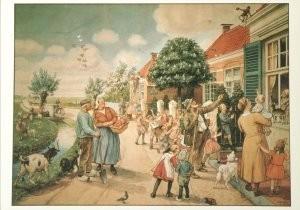 Cornelis Jetses (1873-1955) -De Vertelselplaat- Postkaart
