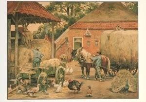 Cornelis Jetses (1873-1955) -Het volle leven: 'De laatste hooivracht'- Postkaart