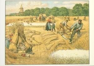 Cornelis Jetses (1873-1955) -Het volle leven: 'Een julidag op het land'- Postkaart