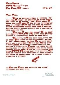 Giora Katri -A love letter- Postkaart