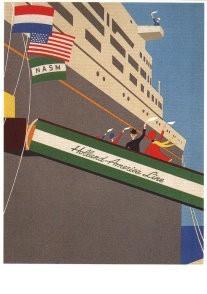Jan Lavies (1902-2005) -Afscheidsmenu menukaart H.A.L., 1967- Postkaart