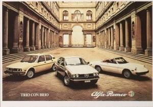 Alfa Romeo -Affiche trio con brio- Postkaart