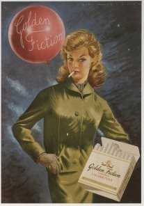 Jan Lavies (1902-2005) -Golden Fiction (Laurens), showcard, 1948- Postkaart