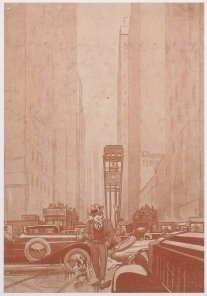 Jan Lavies (1902-2005) -New York 1925- Postkaart
