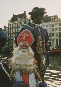 H.H. Straatmeijer -Sint en Piet op het water- Postkaart