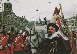 H.H. Straatmeijer -Sint op paard op de Dam- Postkaart