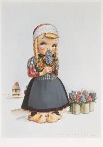 Jan Lavies (1902-2005) -Jan Lavies/Marken, Holland- Postkaart
