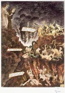Edward Sorel (1929) -The Inferno / originally published in Penthouse, c- Postkaart