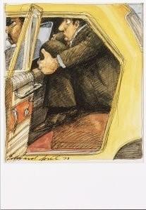 Edward Sorel (1929) -E.Sorel/New York City Taxi- Postkaart
