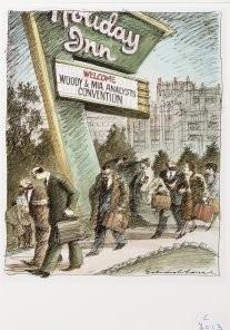 Edward Sorel (1929) -Crisis Situation- Postkaart
