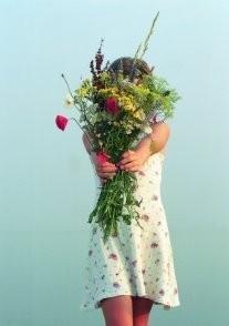Taeke Henstra (1943-2010) -A Flower-Fairy.- Postkaart