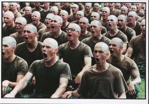 J.Torgovnik (1969) -J.Torgovnik/Marines boot camp- Postkaart