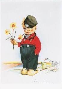 Jan Lavies (1902-2005) -Volendam, Holland- Postkaart