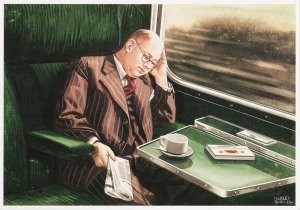 Charles Burki (1909-1994) -C.Burki/Slapende reiziger.- Postkaart