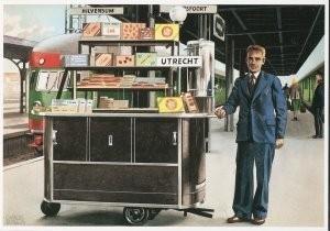 Charles Burki (1909-1994) -C.Burki/Consumptiewagentje.- Postkaart