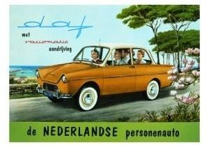 Charles Burki (1909-1994) -Daf Variomatic- Postkaart