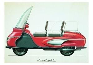 Charles Burki (1909-1994) -Duoflight red- Postkaart
