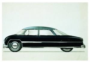 Charles Burki (1909-1994) -Executive car- Postkaart