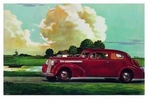 Charles Burki (1909-1994) -Driving through lowlan- Postkaart