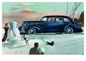 Charles Burki (1909-1994) -Winter fun.- Postkaart