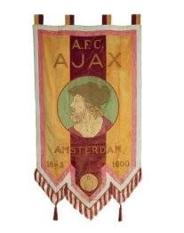 -Ajax Museum, Vaandel 25 jarig jubileum- Postkaart