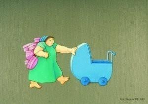 Ada Breedveld (1944) -Big mamma- Postkaart