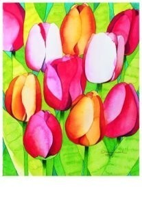 Mary Russel -Tulip Time- Postkaart