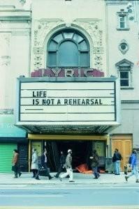 Letizia Volpi -Life is not a rehearsa- Postkaart