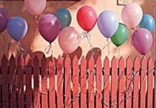 Stephen Hender -Balloons on Fence- Postkaart