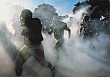 Christopher J. Crewell -College Football Players Take the Field- Postkaart
