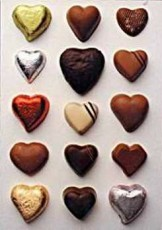 Letizia Volpi -Chocolate Hearts- Postkaart
