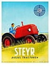 Jan Lavies (1902-2005) -Steyer Diesel tractor- Postkaart